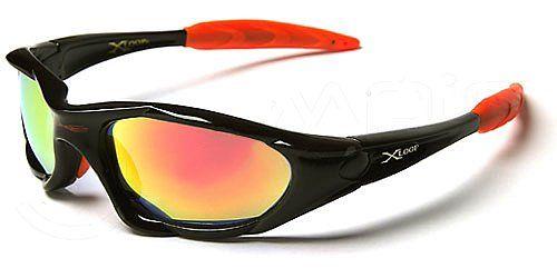 X-Loop Lunettes de Soleil – Sport – Cyclisme – Ski – Conduite – Moto / Mod. 1002 Noir Orange Spectrum Iridium / Taille Unique Adulte / Prote...