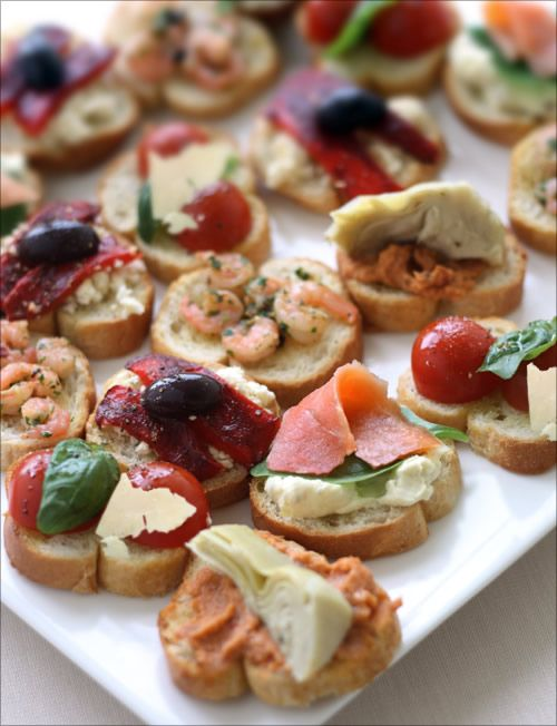 Crostini Selection by mediterrasian #Appetizer #Crostini