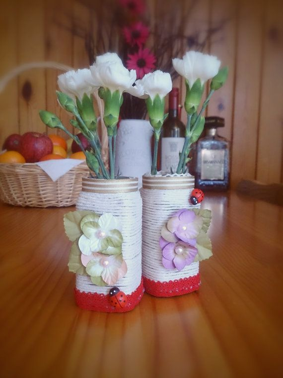 Upcycle / Recycle Project Set of Two Beautiful by DesignsByDenisa