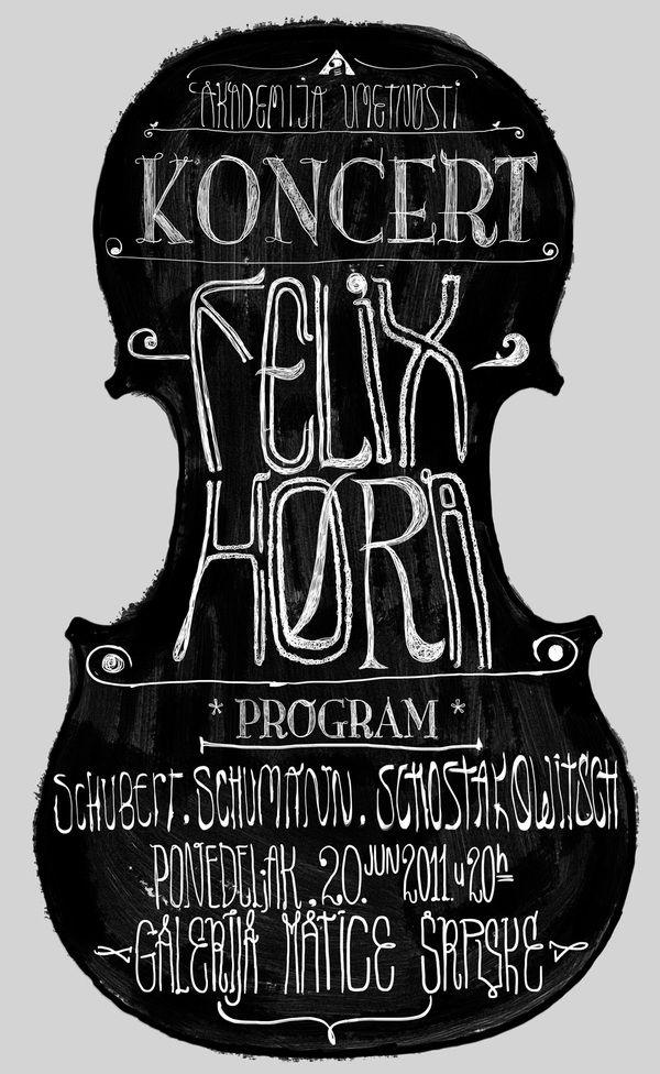 Felix Hora string quartet poster by Marko Vuleta-Djukanov, via Behance