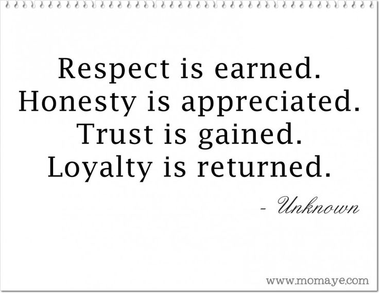 essay on respect and trust Quotes and an essay on trust, an obstacle to living life fully.