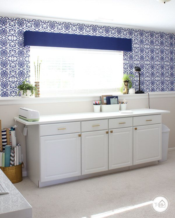 For my basement area? Home office Temporary Wallpaper Installation