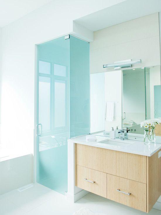 25+ melhores ideias sobre Porta De Vidro Jateado no Pinterest  Vidro jateado -> Banheiro Decorado Com Bancada De Vidro