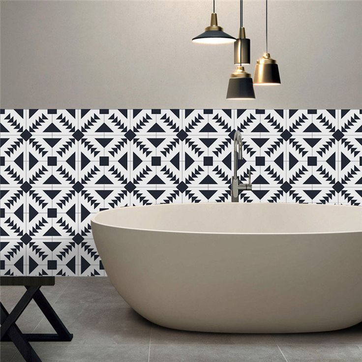 25Pcs Self Adhesive Bohemia Simulation Ceramic Tiles DIY Kitchen Bathroom Wall Decal Sticker Decor is Personalized-NewChic