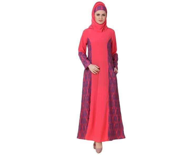Buy now--> Whatsapp: +91-8826009522 (#Worldwide) MyBatua #Atia #Crepe #Sweet #Pink #Abaya   Available in sizes XS to 7XL, lenth 50 to 66 inches.   Buy link : https://www.mybatua.com/catalogsearch/result/?q=Atia+Crepe+Sweet+Pink+Abaya