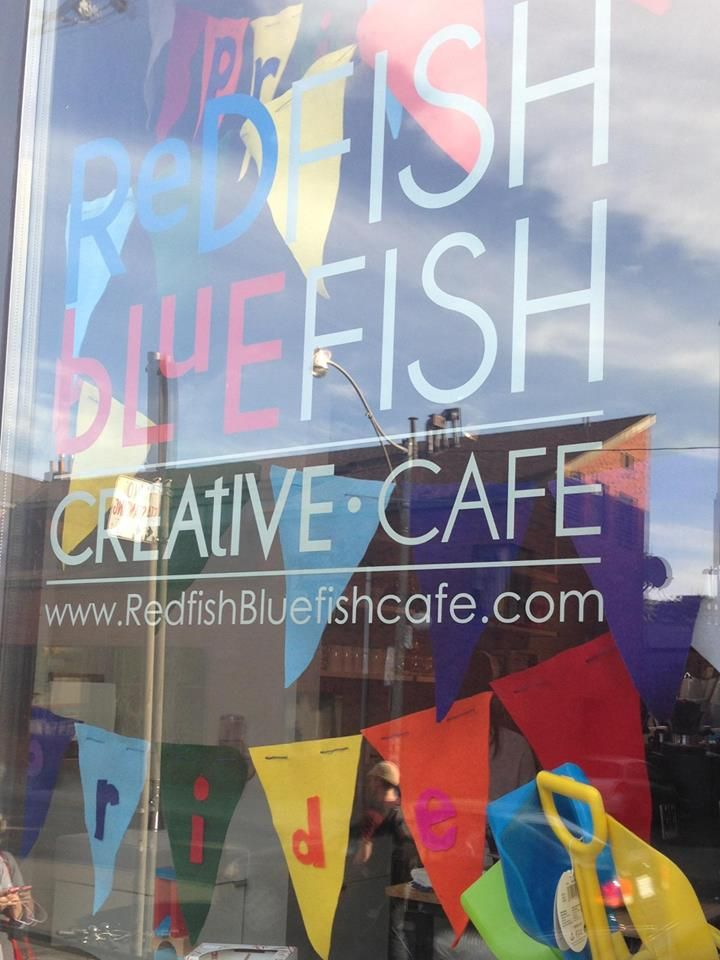 """We're a kids cafe that welcomes adults."" Toronto's Red Fish Blue Fish creative cafe comes with a craft table and savoury scones."