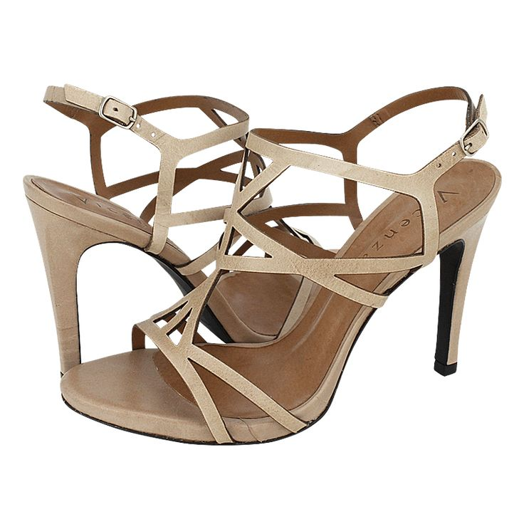 Sonzay - Vicenza Women's sandals made of leather with synthetic lining,  leather outsole and a heel height of 10 cm.  Available in color Beige, Tan and Tobacco.