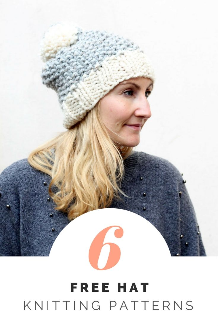 b1fd731d2e1 6 free super chunky hat knitting patterns for beginners.