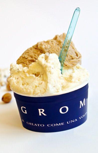 Il gelato di Grom. The best gelato in North West Italy. Close second is Venchi.