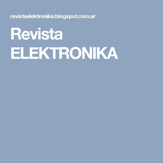Revista ELEKTRONIKA