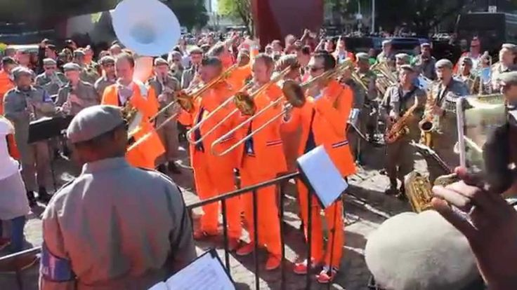 Dutch band FACTOR 12 and Brazilian Military Police Band playing together...