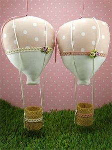 Picture of Χειροποίητες μπομπονιέρες βάπτισης αερόστατο