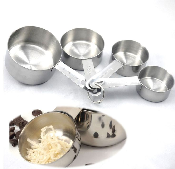 New Baking Tools For Cake 4PCS Stainless Steel Measuring Cups Spoon Kitchen Scale Flour Sugar Making Cupcake Pizza Cooking Tools