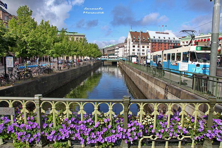 Centre of city Goteborg, Sweden