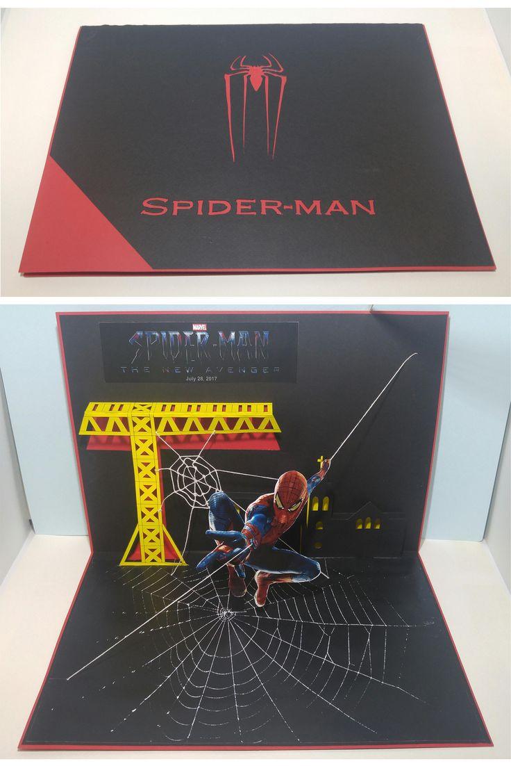 Pop-up card design SPIDER-MAN [New Avenger] 광고 팝업카드 2017년 개봉 예정 디자인원리2 과제 12124085 이후열