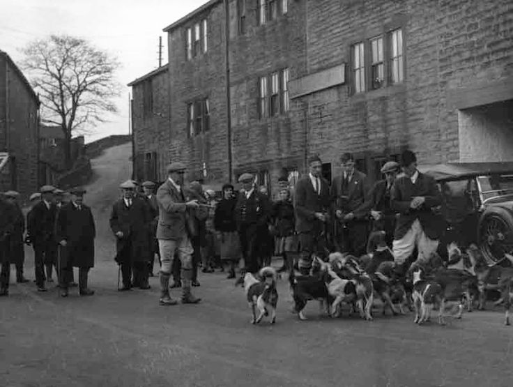 0118 Another shot of the Commercial (now the Bridge Tavern) with the Holmbridge Beagles in the 1960s.