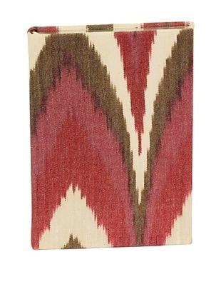 76% OFF Aviva Stanoff Gilt-Edged Ikat Keepsake Wide-Ruled Journal, Burgundy