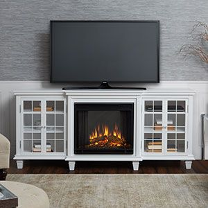 Marlowe Electric Fireplace Entertainment Center in White – 2770E-W
