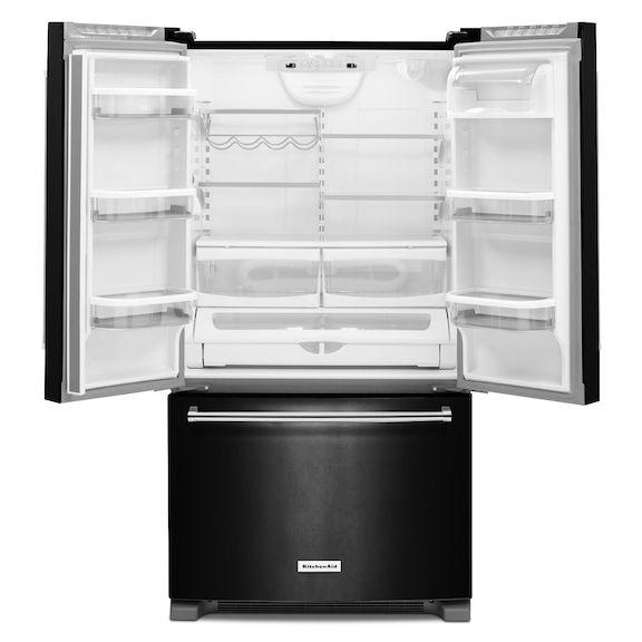 kitchenaid black french door 20 cu ft krfc300ebl leonu0027s