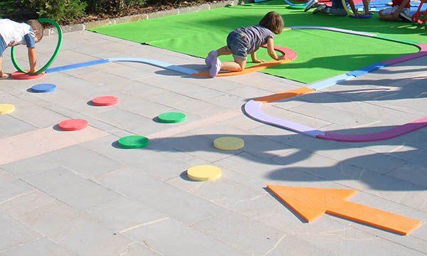Percorso gioco in Etilene Vinil Acetato, per la massima sicurezza dei vostri bambini. Divertimento assicurato!