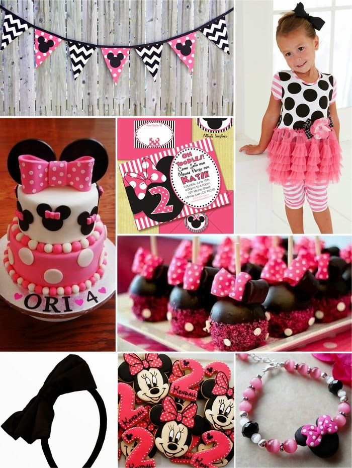 Minnie Mouse Birthday Party Ideas, in red and LOVE the banner