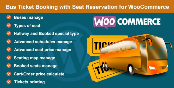 Bus Ticket Booking with Seat Reservation for WooCommerce | Best