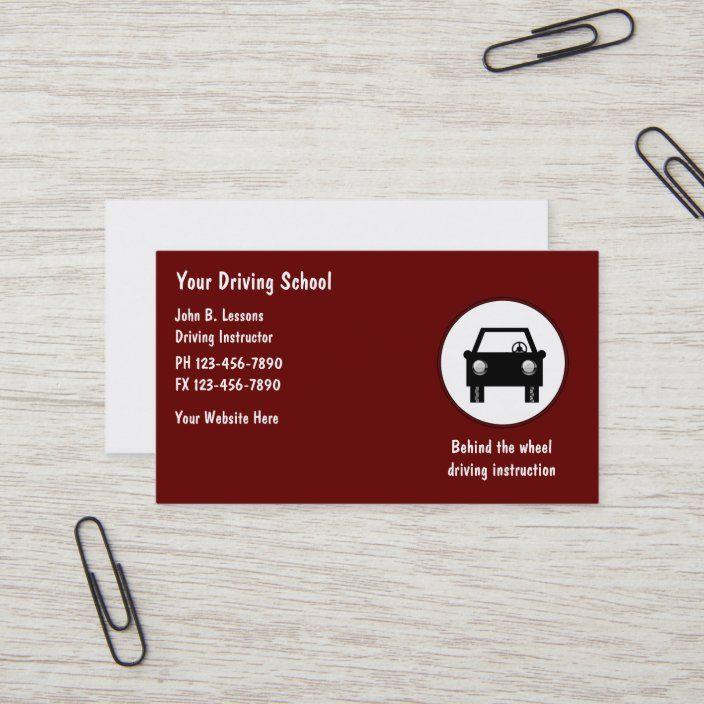 Driving School Business Cards Zazzle Com Driving School Teacher Business Cards Driving Instructor