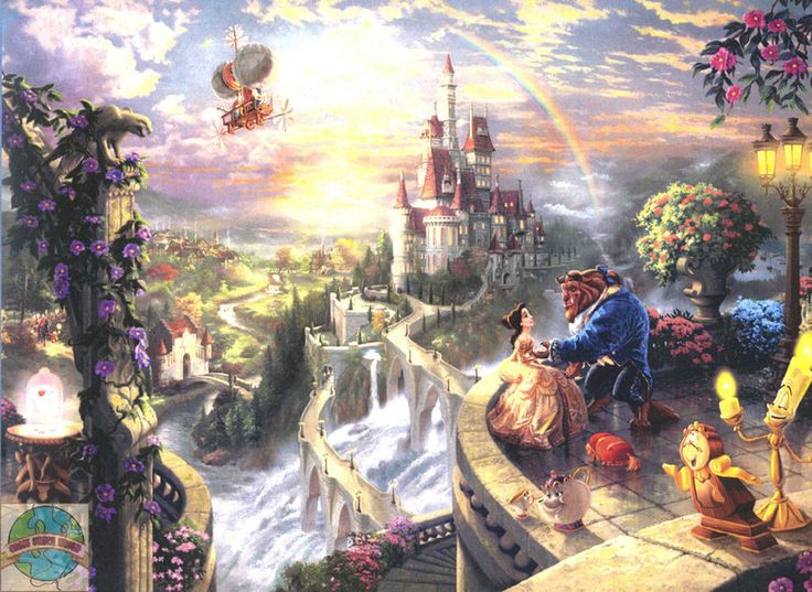 Cross Stitch Kit ~ Kinkade / Disney Beauty and the Beast Falling in Love #52505 #DisneyCandamar