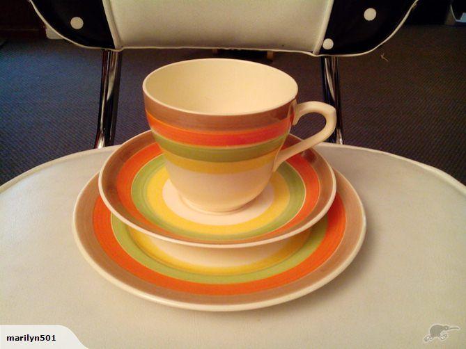 *Rare Crown Lynn Fiesta Gaye Trio -Unusual Colour* | Trade Me $148