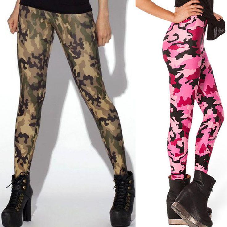 HOT Sexy Fashion Womens Leggins Galaxy Colorful Pants CAMO PINK LEGGINGS - LIMITED Woman Pants Free Shipping * La oferta se puede encontrar haciendo clic en la imagen