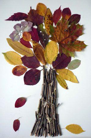 Herbstbaum – Natur Basteln – Meine Enkel und ich – Made with schwedesign.de