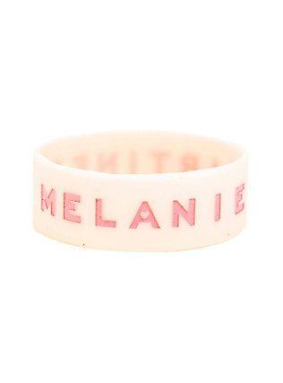 Melanie Martinez Pink Rubber Bracelet,