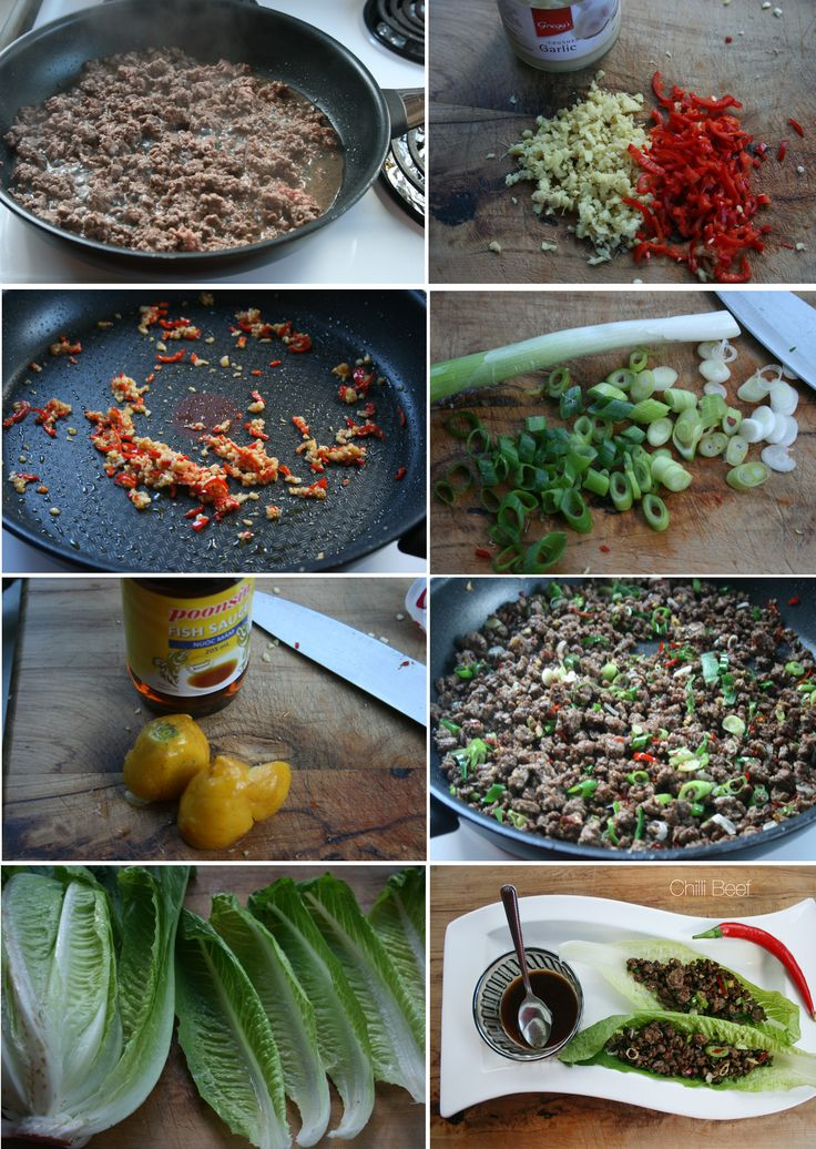 How to - Chili Beef Lettuce - Find my recipe at www.facebook.com/budgethealth and www.healthyeatingonastudentbudget.wordpress.com