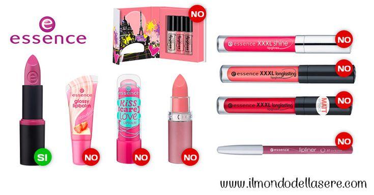 Essence: prodotti con buoni inci -LABBRA- Linea permanente | Prodotti con buoni inci | Make up | Cura del corpo