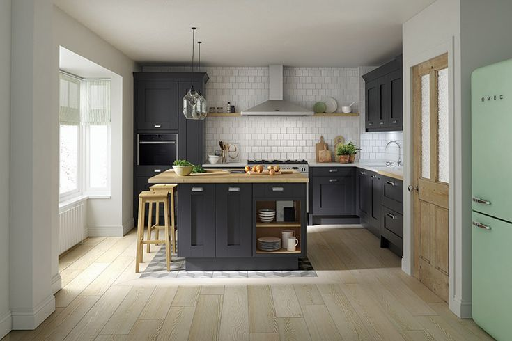 Simply extend your island worktop to create a simple but stylish breakfast bar.