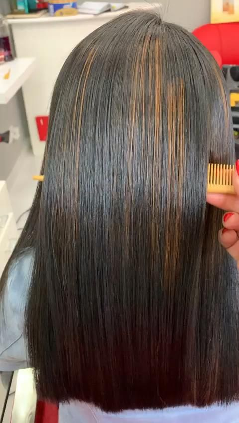 Rebonding Video in 2020 | Hair highlights, Hair smoothening, Hair color