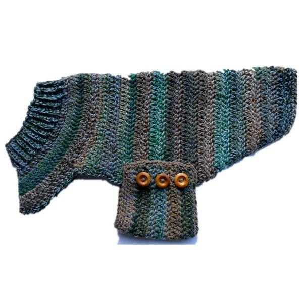 Tres botones tejer patrones ropa para perros suéter                                                                                                                                                                                 Más