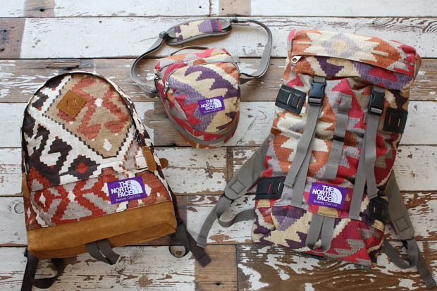 North Face Old Kilim Collection I want to go backpacking with you.