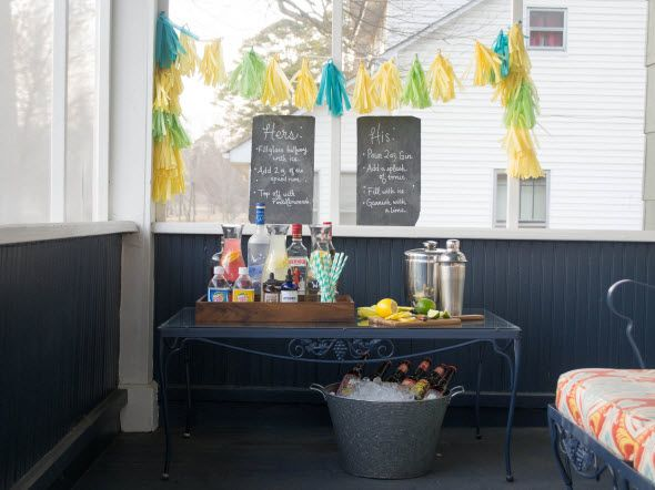 Design a Faux Bar Cart Perfect for Spring Parties (http://blog.hgtv.com/design/2014/03/27/blogger-challenge-casual-faux-bar-cart/?soc=Pinterest)