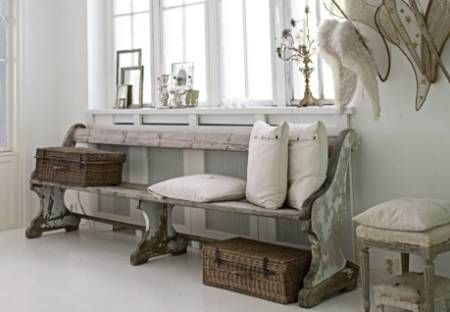 I wish I had enough space! I love the angels wings and old picnic baskets.