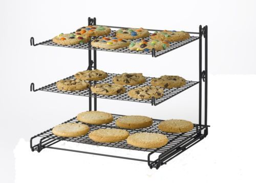 Cooling-Rack-for-Cookies-Brownies-Cakes-Baking-Bakeware-Non-Stick-3-Tier-NEW