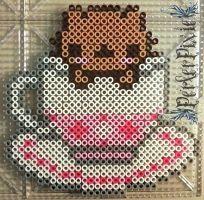 Tea Cup Kitty by PerlerPixie
