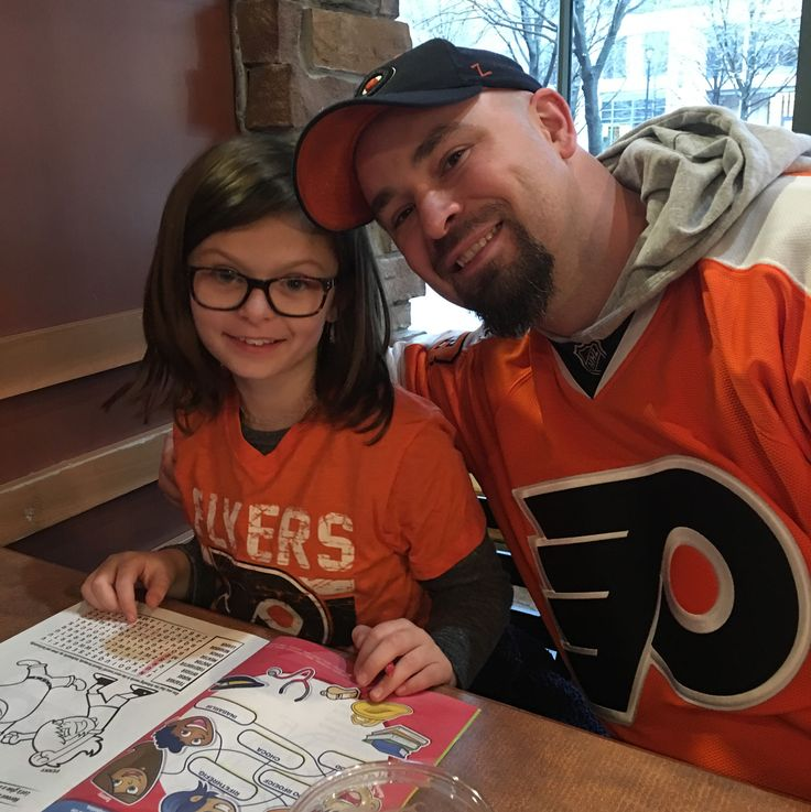 Taking the kids to their first hockey game today. Dinner at Bostons then to the arena to cheer on the flyers!! #goflyersgo #philadelphiaflyers #broadstreetbullies