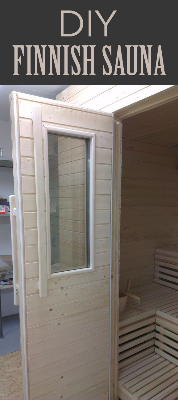 Learn how a Finnish sauna is built and build your own!