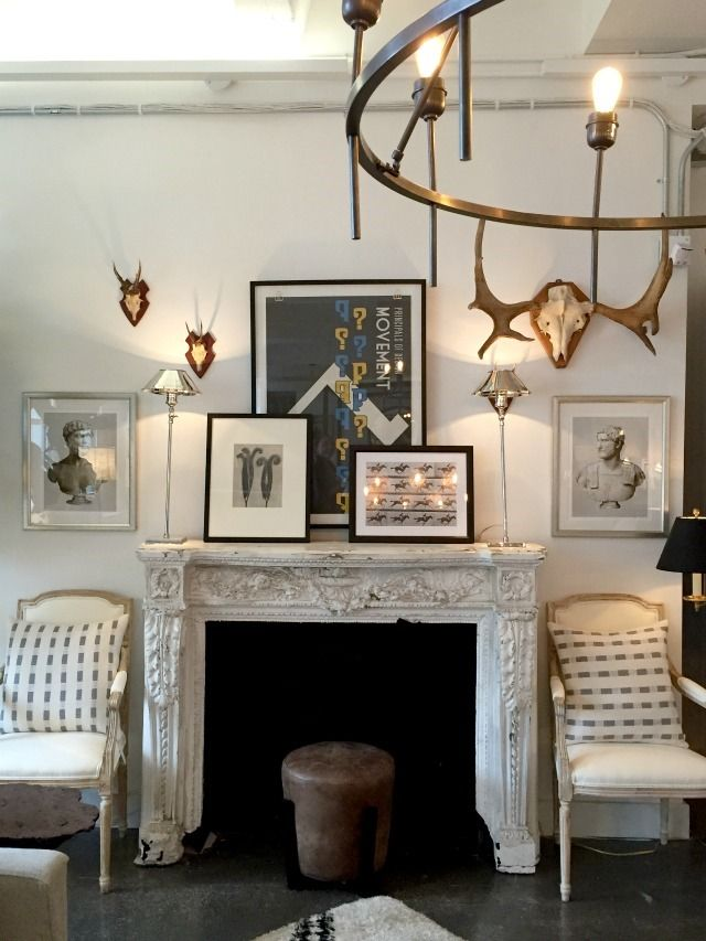 A tour of the studio at one kings lane fireplace mantelsfireplacesone kings lanehouse ideasdecor