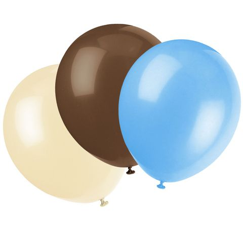 Baby Blue Camo Balloons Set of 6