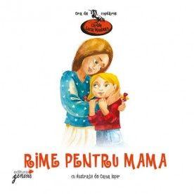 Rime pentru mama - Lucia Muntean - Un minunat volum de poezii pentru mama.  Pentru că poeziile din acest volum ne-au adus aminte de perioada în care umblam și noi la grădiniță, autoarea a rugat-o pe Oana Ispir să ilustreze cartea într-o manieră nostalgică, care să trimită la cărțile pe care le citeam în copilăria noastră petrecută în anii '80.