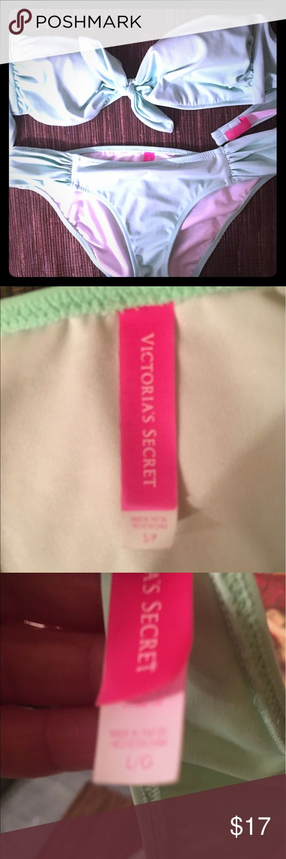 Victoria secret Mint Bikini S-Bottoms- L- TOP For those top heavy beauties out there nwot- EUC Swim Bikinis