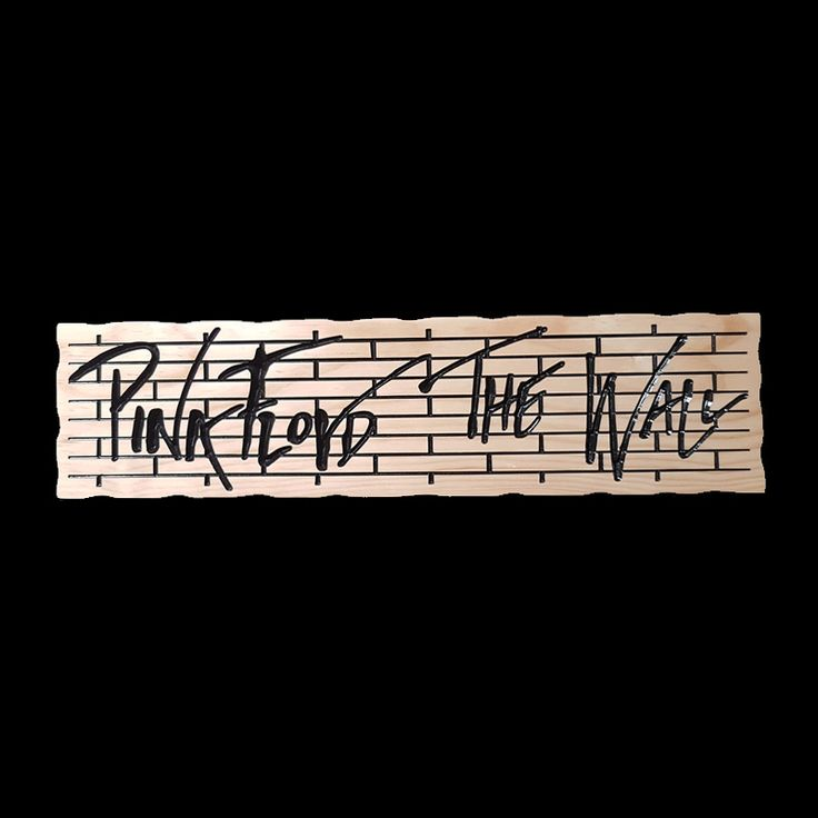Pink floyd the wall timber sign with images timber