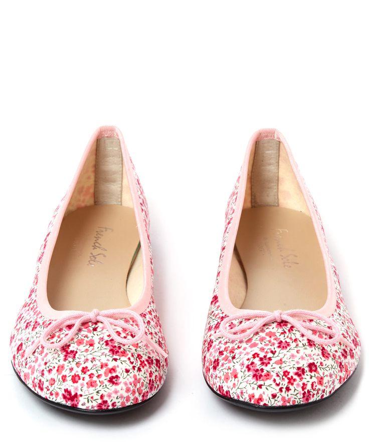 French Sole Pink Classic Phoebe Print Ballet Flats | Womenswear | Liberty.co.uk